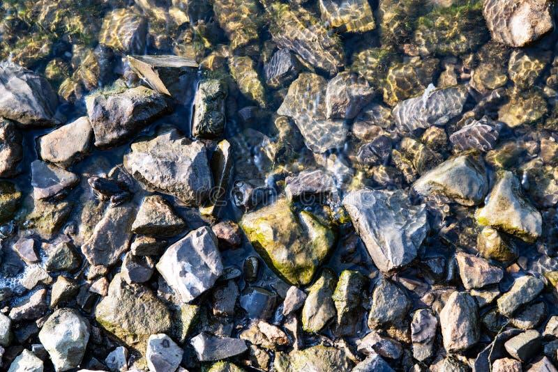 Ostre kamienie w wodzie obrazy stock