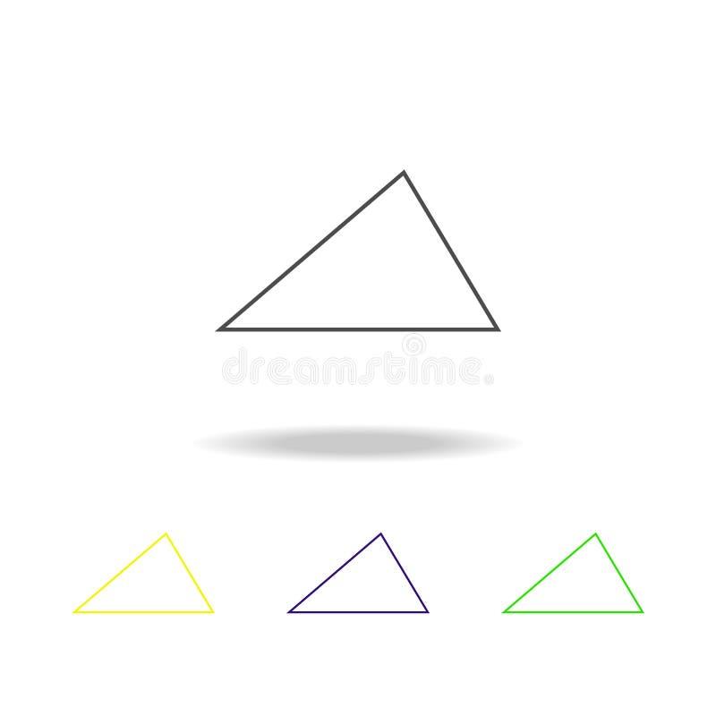 ostrego trójboka barwiona ikona Może używać dla sieci, logo, mobilny app, UI, UX ilustracja wektor