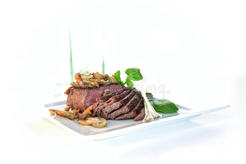 Ostrich Fillet Steak royalty free stock image