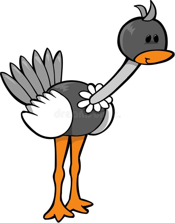ostrichvektor stock illustrationer