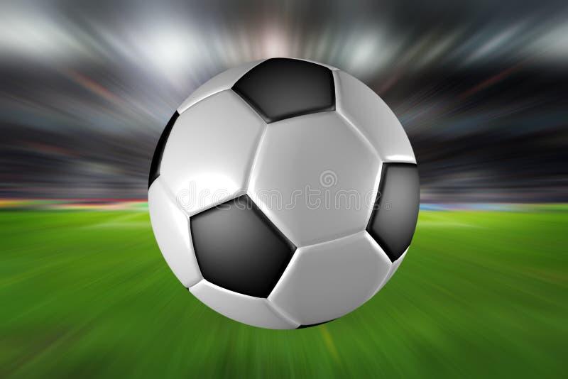 Ostrość na piłki nożnej piłce obrazy stock