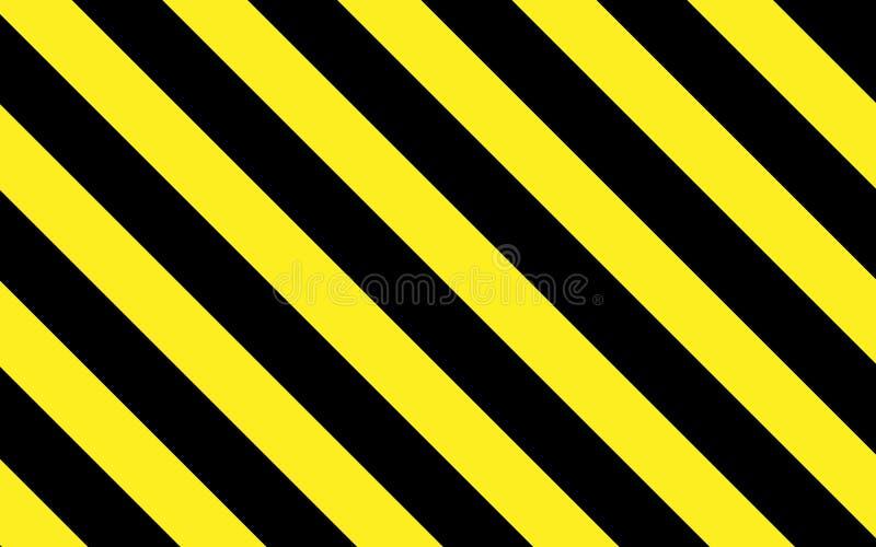 Ostrożność lub ostrzeżenie w lampasach czerni i koloru żółtego ilustracji