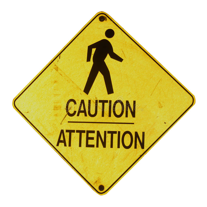 ostrożność znak zdjęcie stock