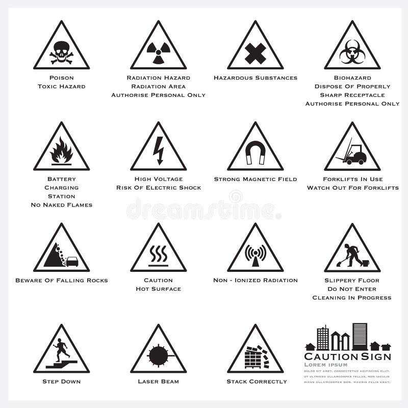 Ostrożności I znaka ostrzegawczego ikony Ustawiać
