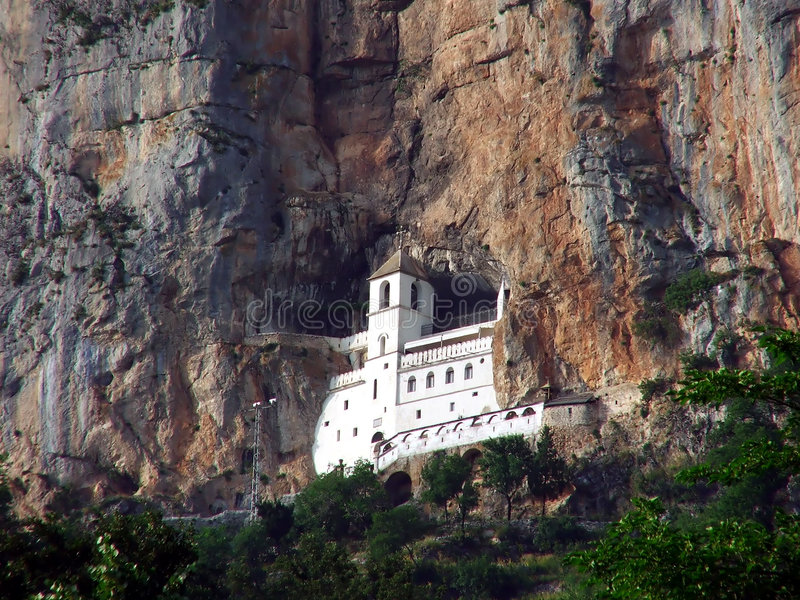 ostrog монастыря стоковое изображение rf
