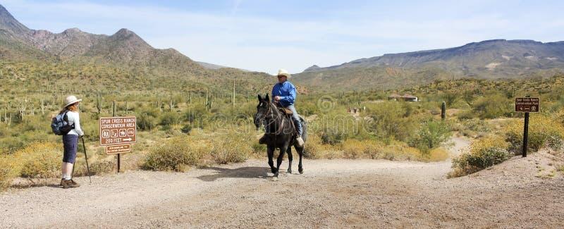 Ostroga krzyża rancho konserwaci terenu wejście obrazy stock