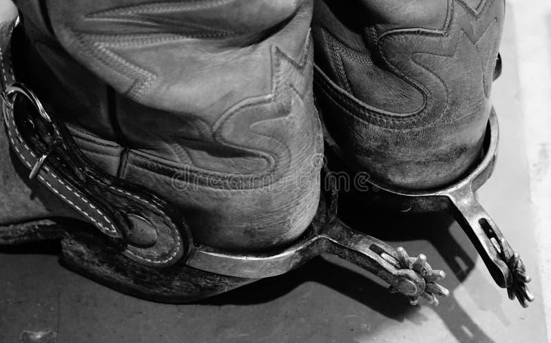 Ostroga na kowbojskich butach obraz royalty free