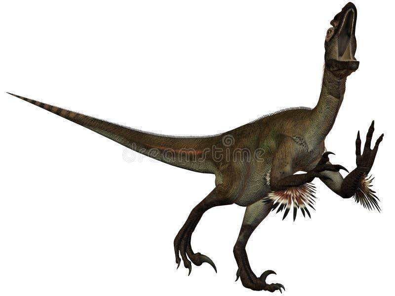 ostrommayorumutahraptor för dinosaur 3d vektor illustrationer