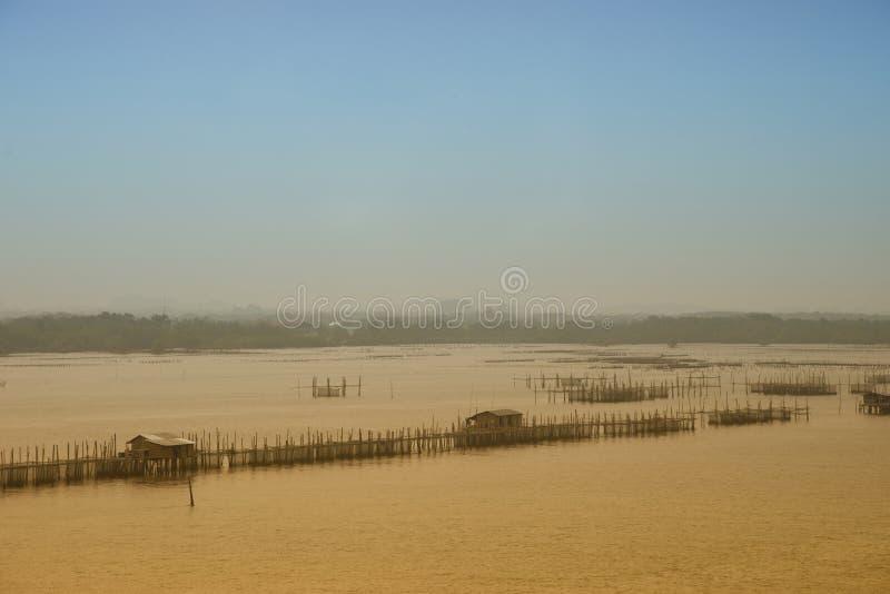 Ostronlantgård i havsabstrakt begreppbakgrund royaltyfri fotografi