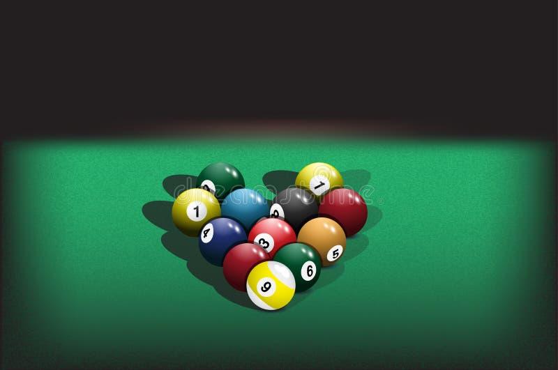 Ostrosłup bilardowe piłki ilustracji