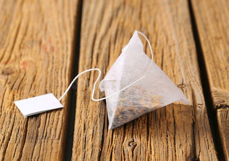Ostrosłup herbaciana torba fotografia stock