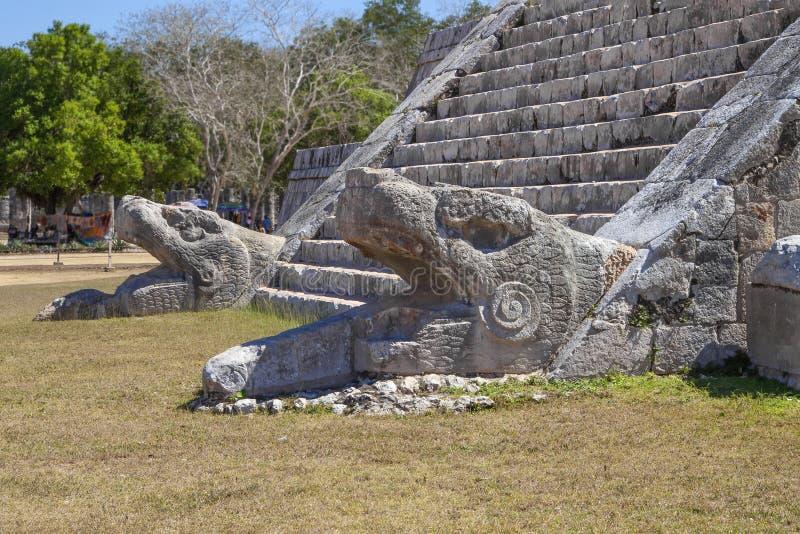 Ostrosłup Kukulcan przy Chichen Itza, Jukatan, Meksyk zdjęcie stock