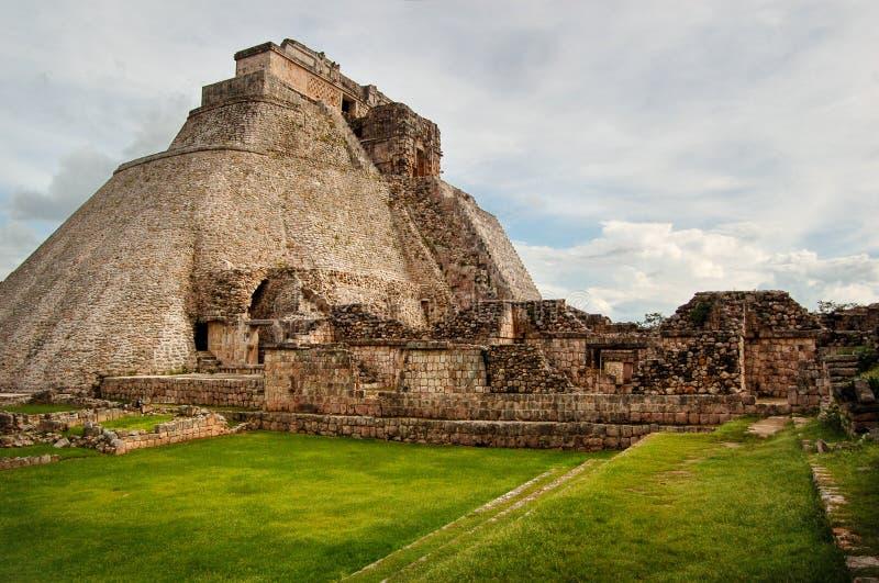 Ostrosłup magik ruiny w Uxmal zdjęcie royalty free