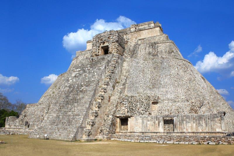 Ostrosłup magik, Uxmal, Jukatan, Meksyk obrazy stock