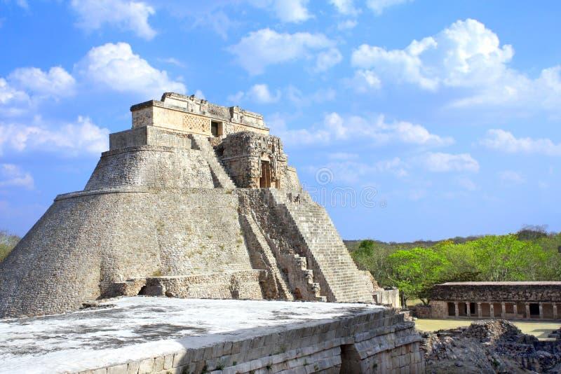 Ostrosłup magik, Uxmal, Jukatan, Meksyk zdjęcia stock
