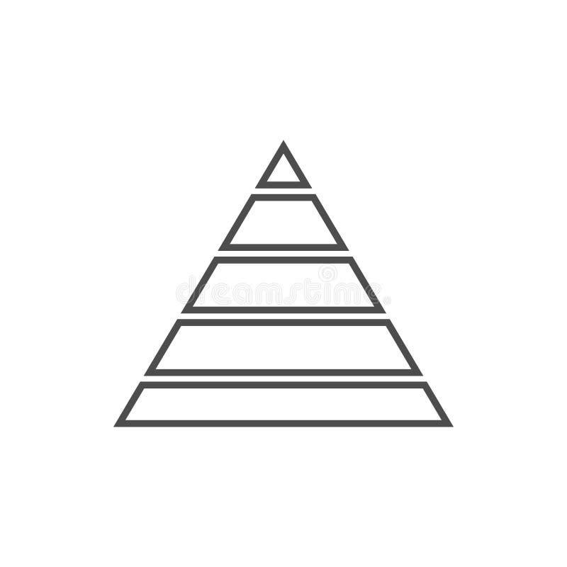 Ostrosłupa diagrama ikona Element cyber ochrona dla mobilnego pojęcia i sieci apps ikony Cienka kreskowa ikona dla strona interne ilustracji