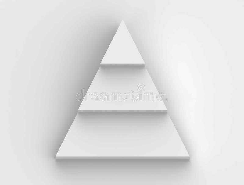 Ostrosłupa kroka flowchart w białym tle royalty ilustracja