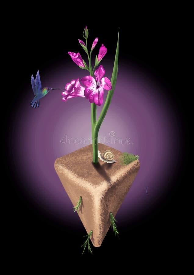 Ostrosłupa kwiat zdjęcie royalty free
