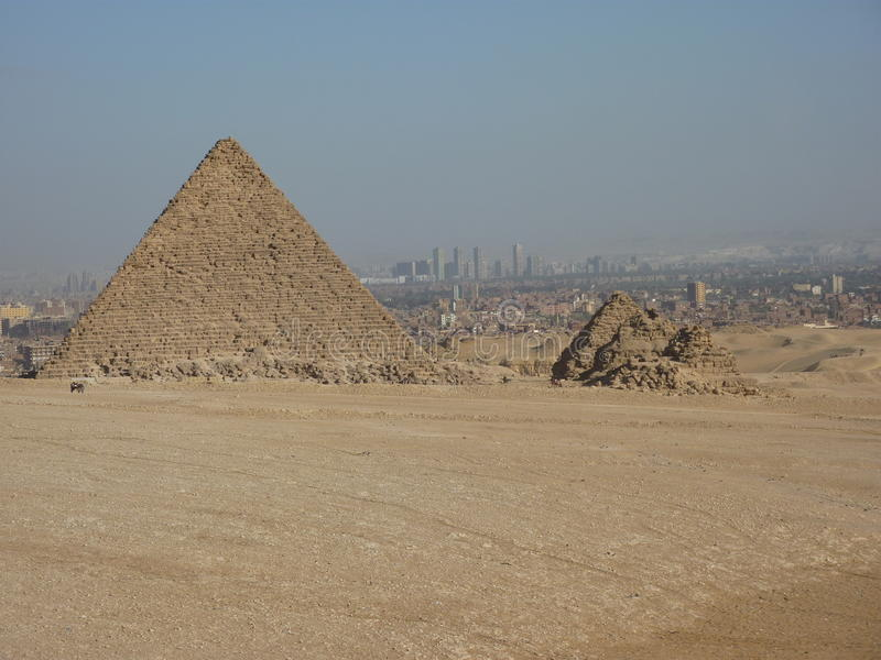 Ostrosłupy Giza Na zewnątrz Kair Egipt obraz stock
