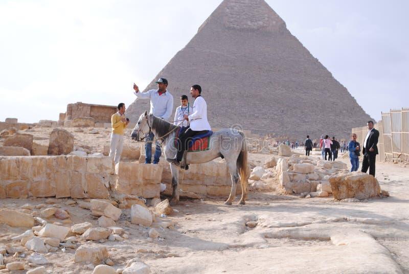 Ostrosłupy w Egipt zdjęcia royalty free