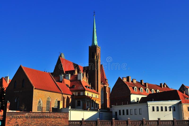 Ostrow Tumski, Wroclaw photo stock