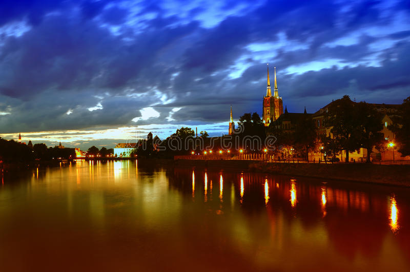 Ostrow Tumski in Wroclaw. stock photography