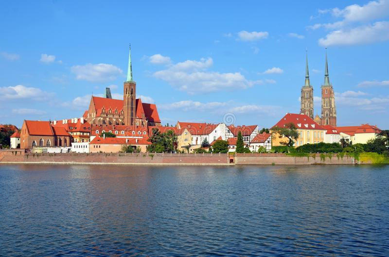 Ostrow Tumski. In Wroclaw, Poland royalty free stock photo