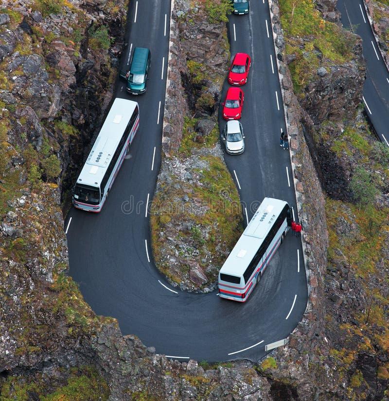 Ostruzione su una strada della montagna immagini stock libere da diritti