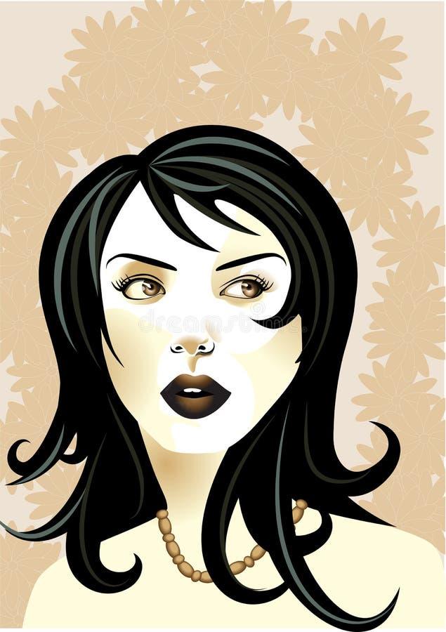Ostry, chłodno, młoda kobieta ilustracji