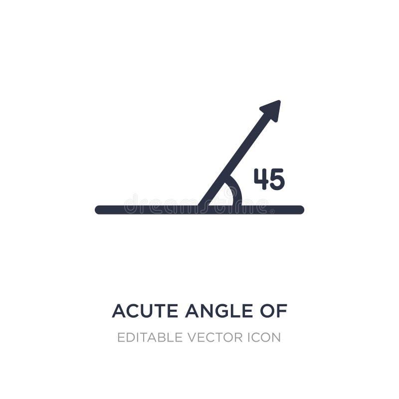 ostry kąt 45 stopni ikony na białym tle Prosta element ilustracja od kształta pojęcia ilustracji