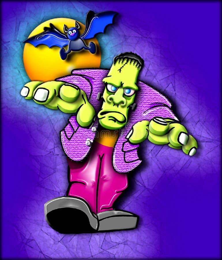 ostry potwór frankensteina royalty ilustracja