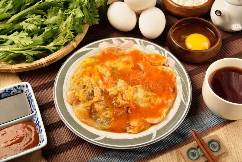 Ostrygowy omlet obraz stock