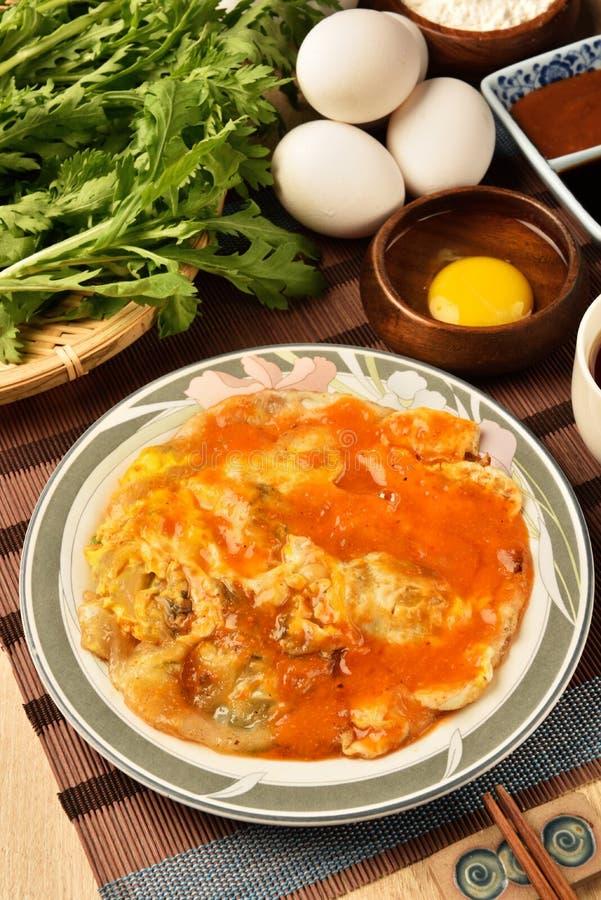 Ostrygowy omlet fotografia royalty free