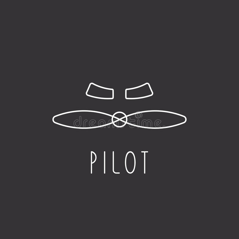 Ostrza samolotu loga projekta samolotowy element ilustracji
