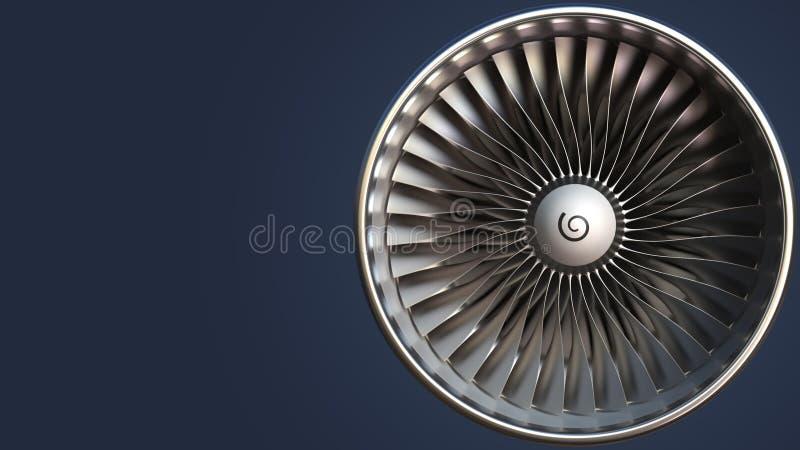 Ostrza turbina, 3D rendering ilustracji