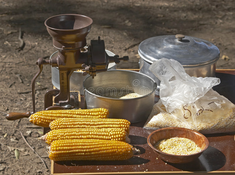 ostrzarz kolby kukurydzy obraz stock