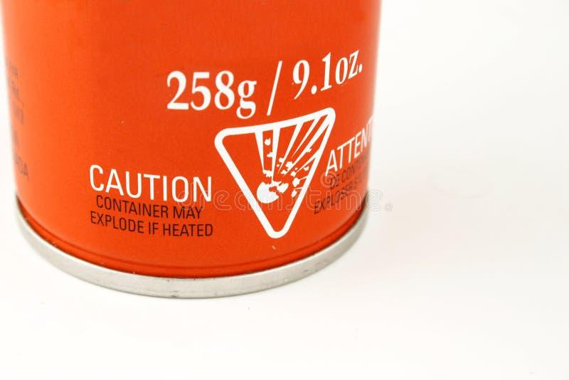 ostrzeżenie etykiety fotografia stock