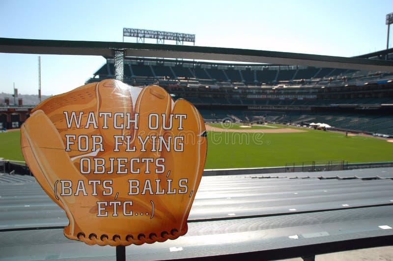 ostrzeżenie o baseballu obrazy royalty free