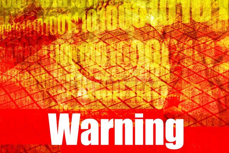 ostrzeżenie wiadomości royalty ilustracja