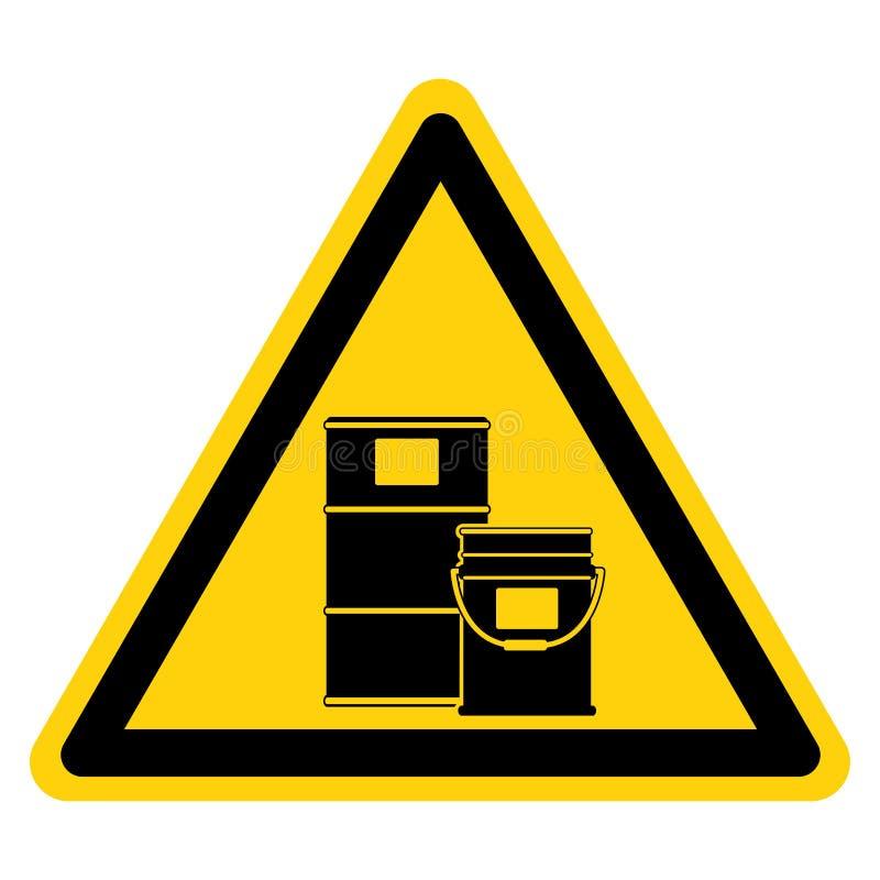 Ostrzeżenie Znak Symbol Obszaru Bębnowego,Ilustracja Wektorowa, Izolowany Na Białej Etykiecie Tła EPS10 ilustracji