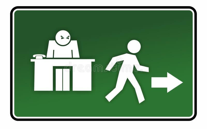 Ostrzegać lub drogi ewakuacyjnej znak ilustracji