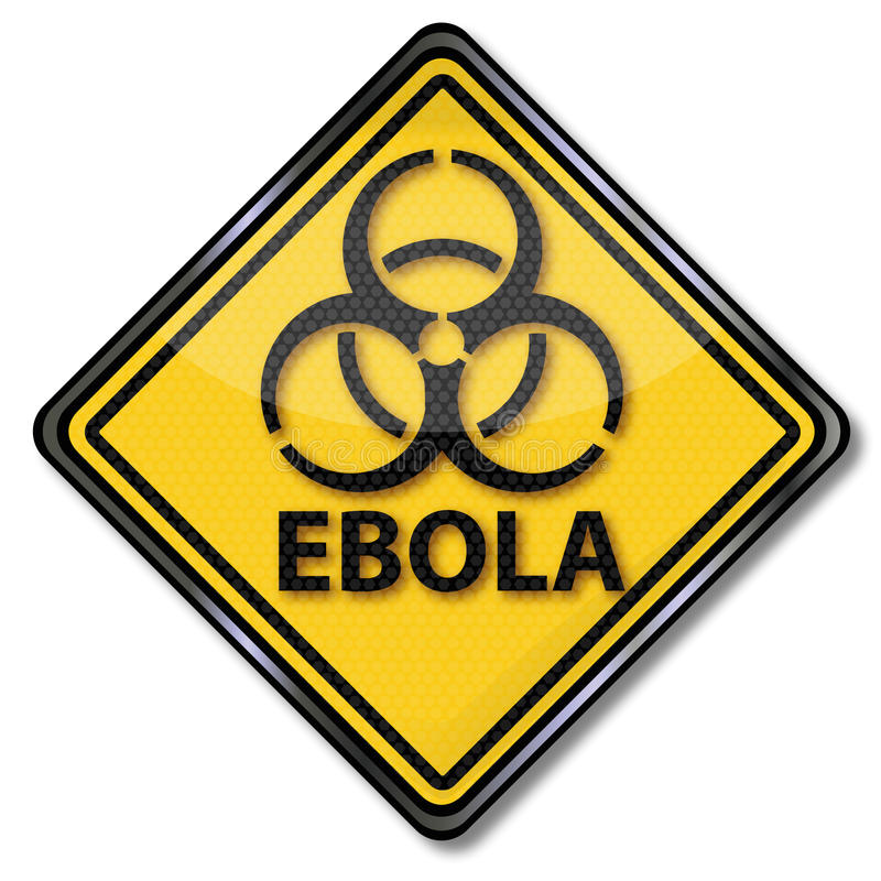 Ostrzegać przeciw Ebola ilustracja wektor