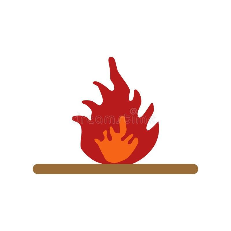 Ostrzegać przeciw niebezpieczeństwu ogienia bielu tło ilustracji
