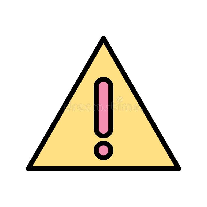 Ostrzegawcza deskowa Wektorowa ikona ilustracja wektor