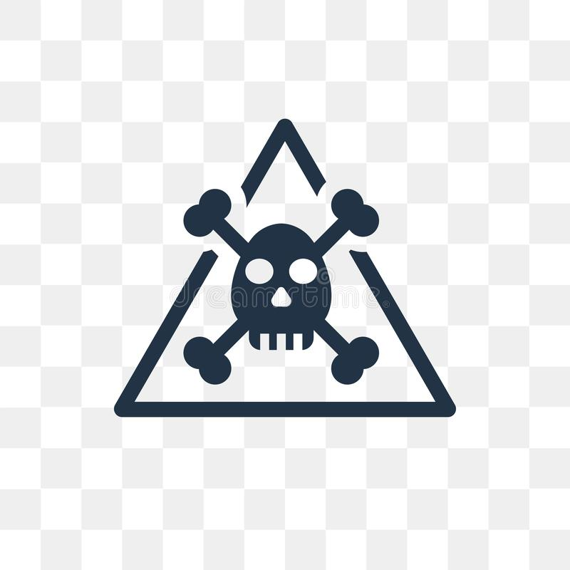 Ostrzegawcza wektorowa ikona odizolowywająca na przejrzystym tle, Ostrzega ilustracji