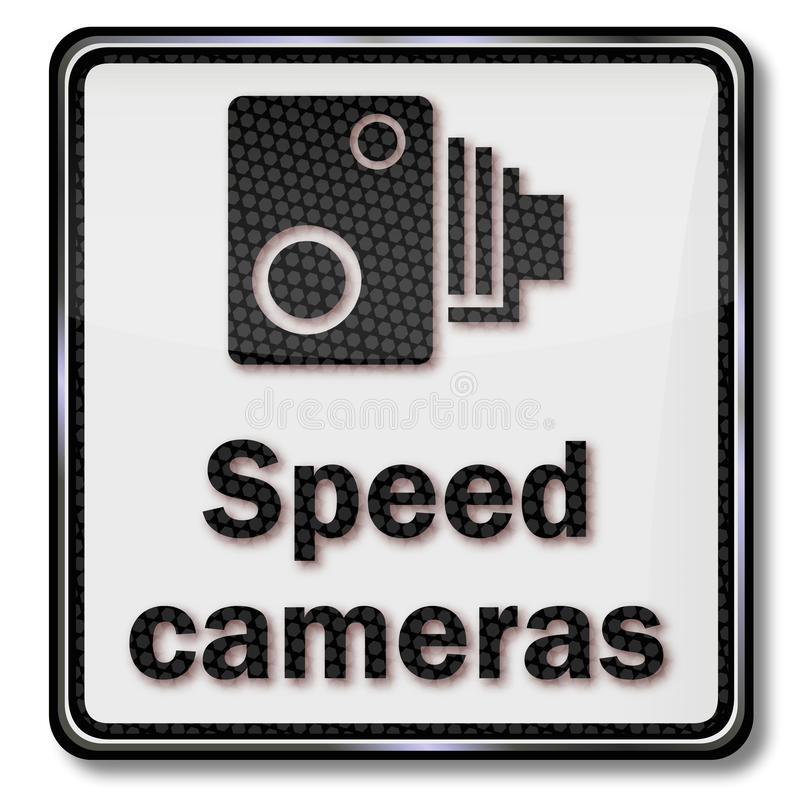 Ostrzegawcze radarowe inwigilaci i prędkości kamery ilustracji