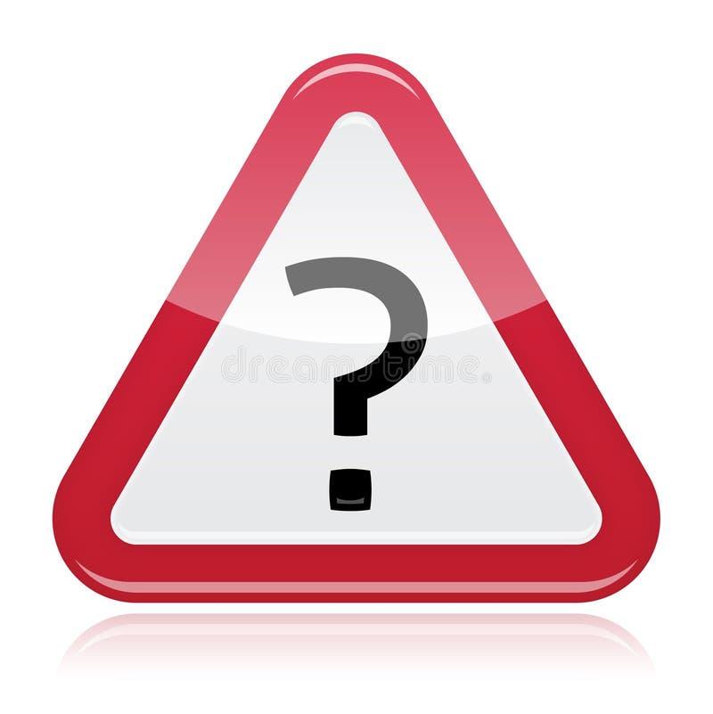 Download Ostrzegawczej Uwagi Czerwony Glansowany Znak Z Znakiem Zapytania Ilustracji - Ilustracja złożonej z pytać, ochrona: 28972073