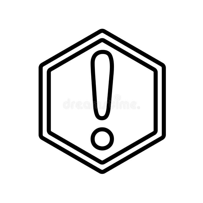 Ostrzegawczy ikona wektor odizolowywający na białym tle, znak ostrzegawczy ilustracja wektor