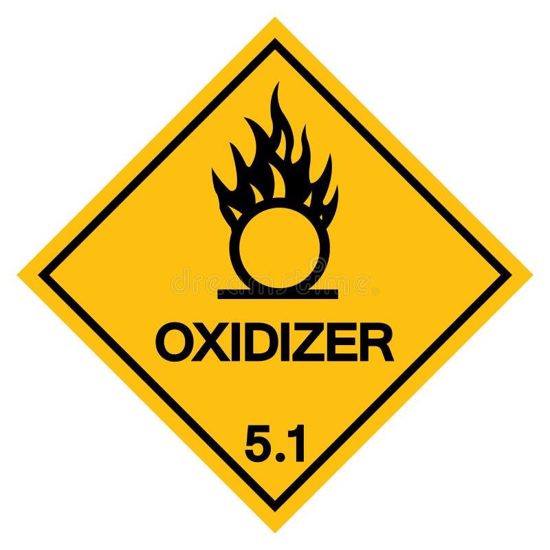 Ostrzegawczy Oxidizer symbolu znak, Wektorowa ilustracja, Odizolowywa Na Białym tle, etykietka EPS10 royalty ilustracja