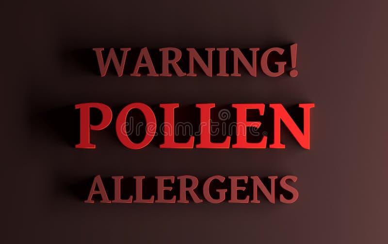 Ostrzegawczy Pollen allergens ilustracji